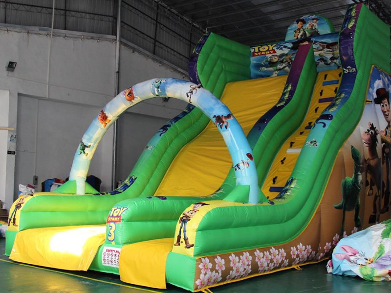 YUQI-Yq323 Pvc Tarpaulin Double Lane Bouncy Inflatable Slide-12