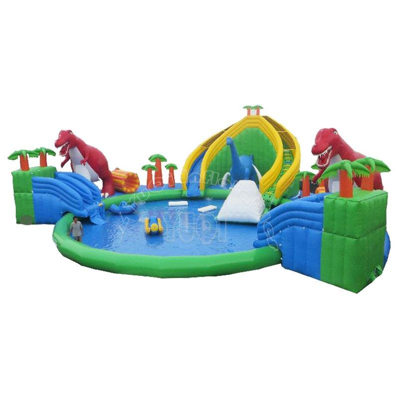 inflatable land water park cheap prices hot summer inflatable water land park