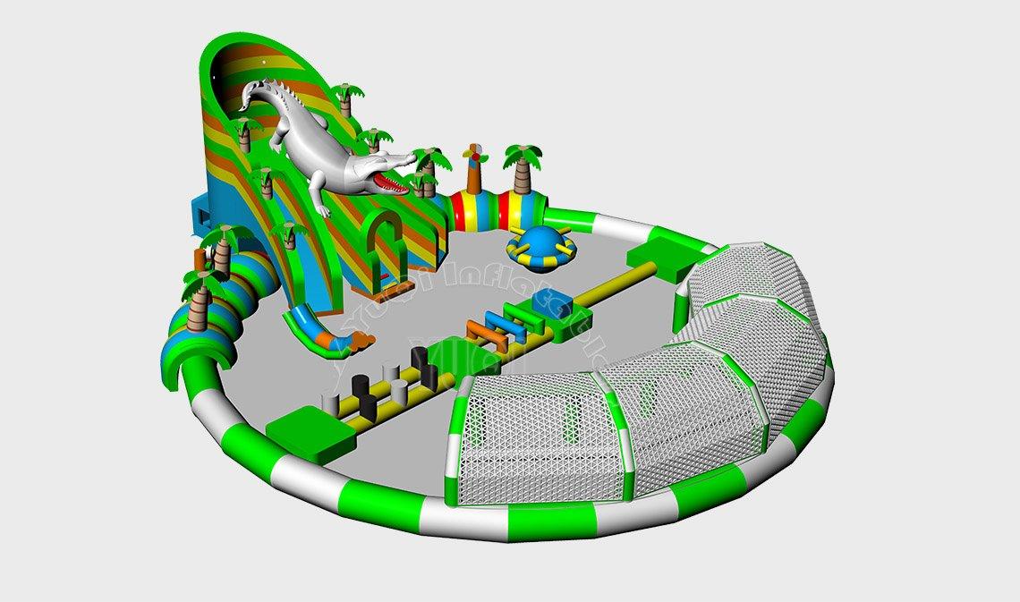 YUQI-Find Funny Inflatable Water Park Popular Crocodile Aquapark-big