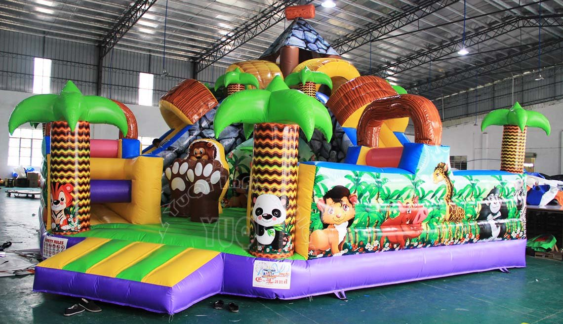 YUQI-Kids Mobile Animal Design Inflatable Amusement Park Yq1