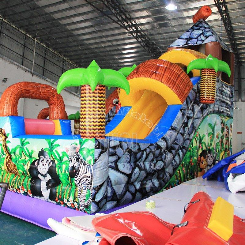 Kids mobile Animal design inflatable amusement park YQ1