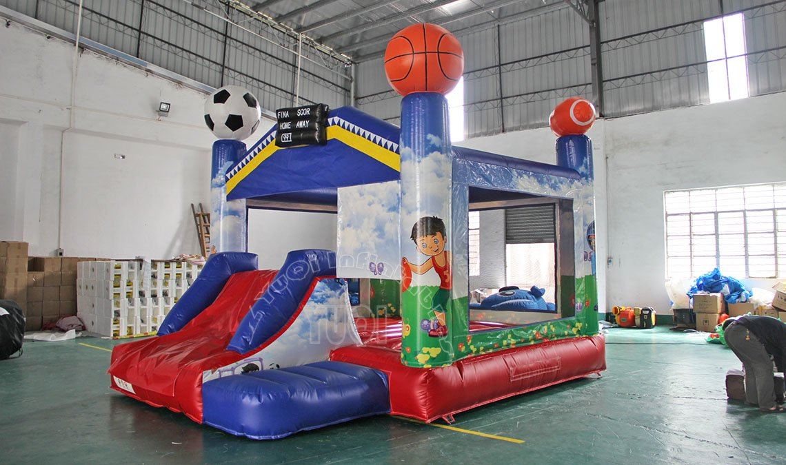 YUQI-Most Popular Bounce House Combo Soccer Design