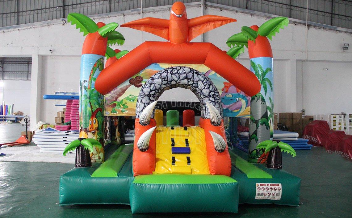 YUQI-Dinosaur Theme Commercial Bounce House Slide Combo For Kids