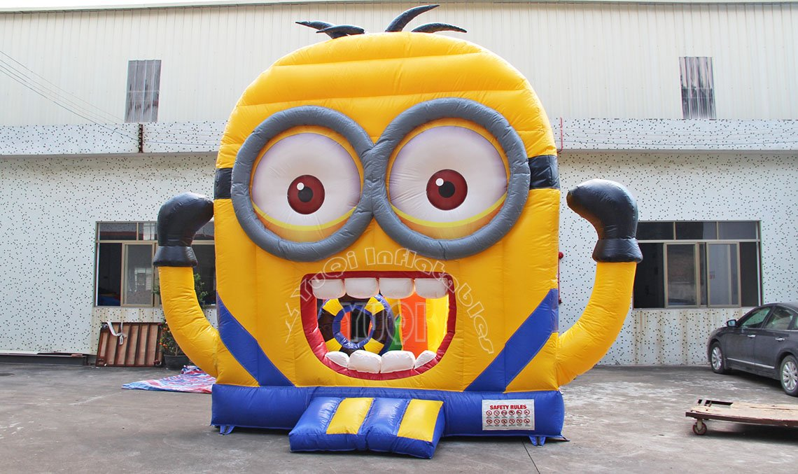 YUQI-Commercial Minion Inflatable Jumping Castle , Small Bounce House