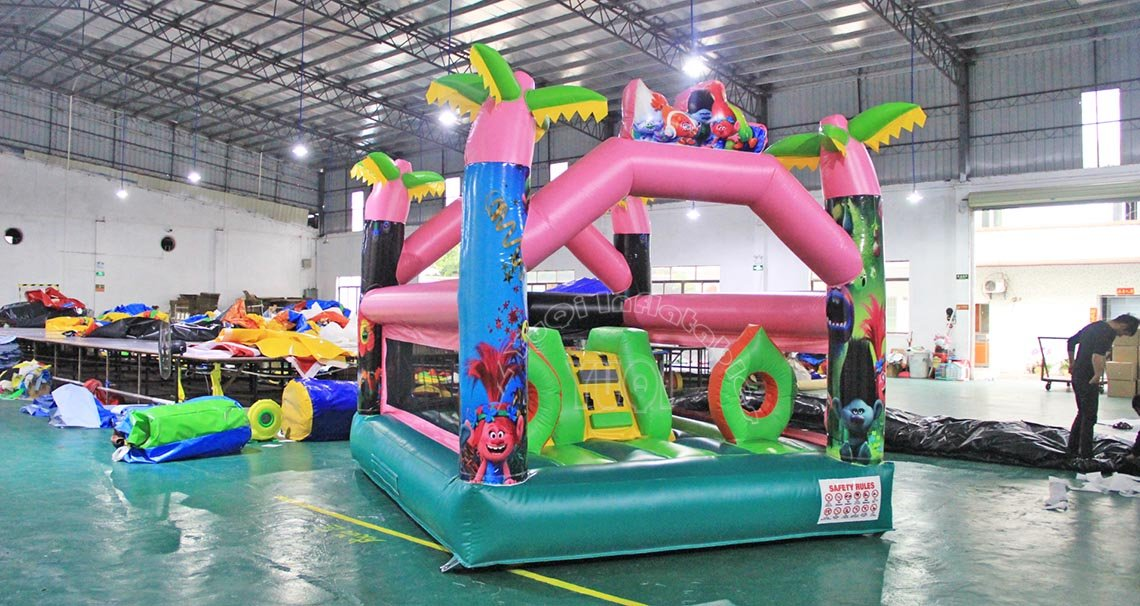 YUQI-Trolls Inflatable Bouncer For Kids Yq6 | Inflatable House Bouncer