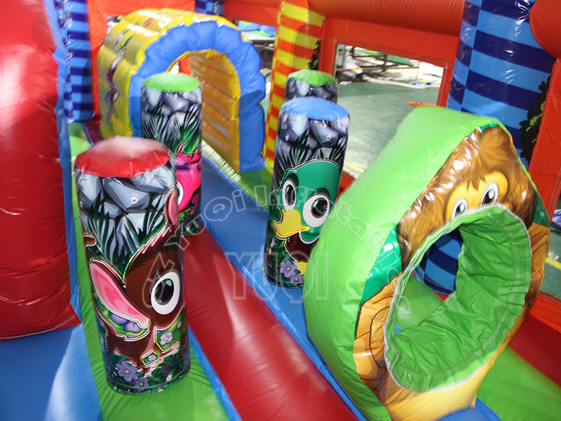 YUQI-Yq323 Pvc Tarpaulin Double Lane Bouncy Inflatable Slide-3