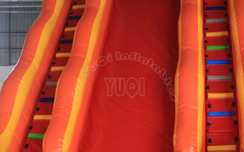 YUQI-Yq323 Pvc Tarpaulin Double Lane Bouncy Inflatable Slide-5