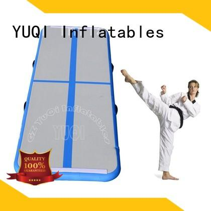YUQI blue Inflatable Gymnastics Mat series for birthday parties