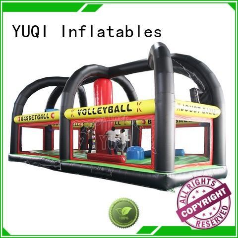 Custom amusement Inflatable sport games basketball YUQI
