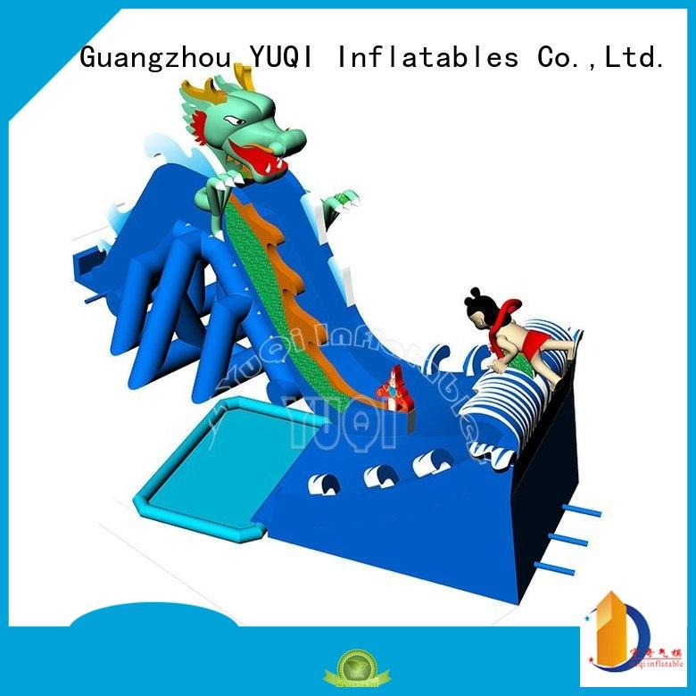 Hot kids inflatable water park slide YUQI Brand