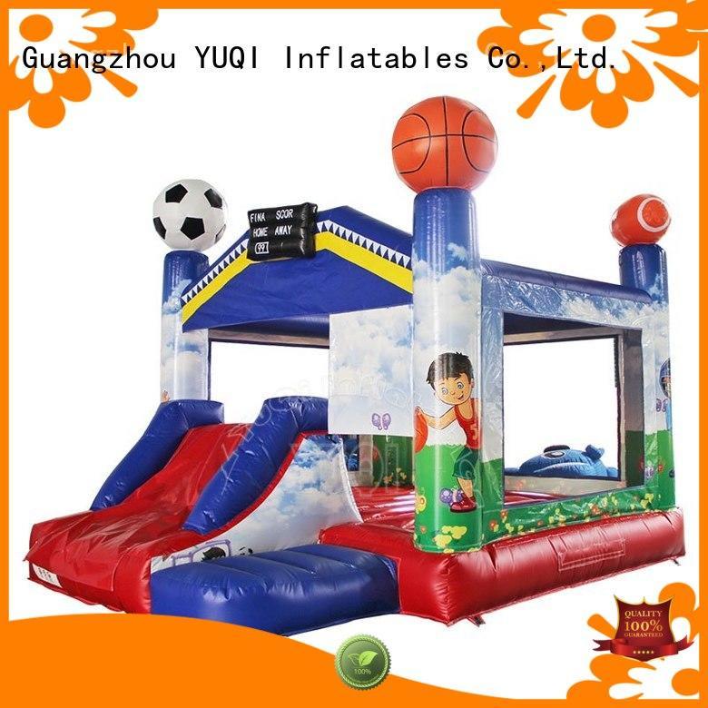 YUQI Brand frozen design bee custom water slide bounce house for adults