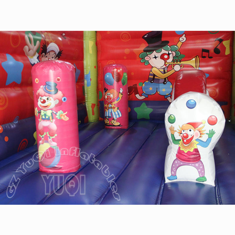 YQ14 New custom made high quality wholesale clown inflatable bouncer