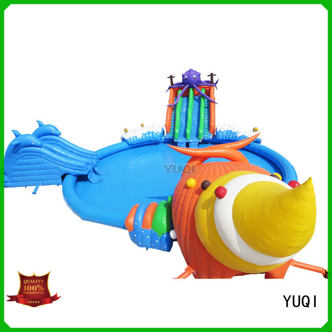 YUQI Best inflatable water playground series for birthday parties