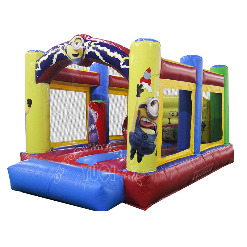 YQ42 Best quality Minions inflatable bouncy castle jumping bouncer