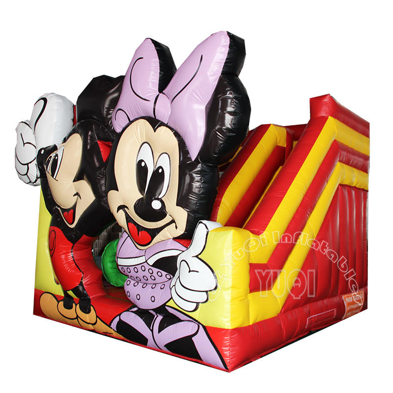 YQ12 Kids play Mickey mouse inflatable bouncer with slide