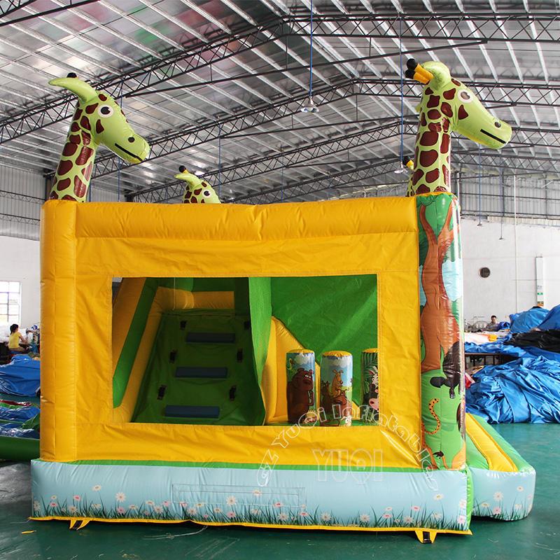 YQ29 Giraffe inflatable bouncer mini castle for kids