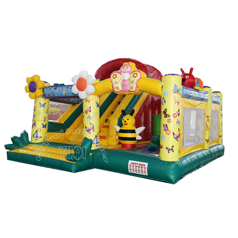 YQ45 Cute Bee Inflatable bouncer slide combo for kids