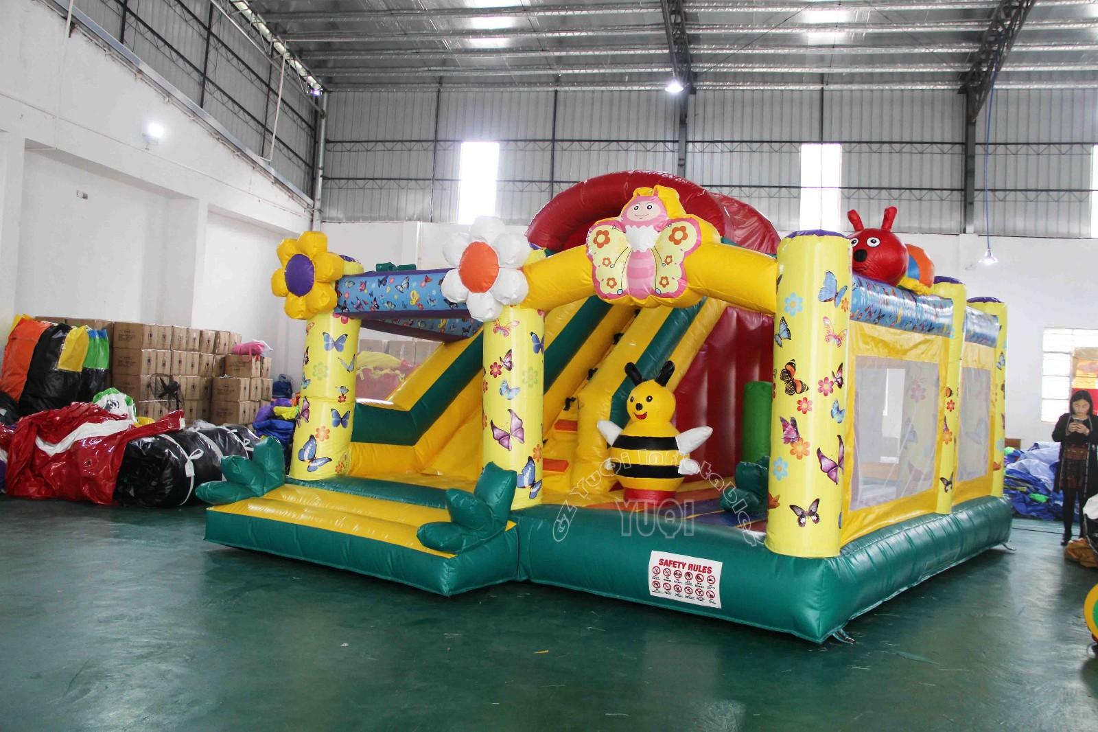 YUQI-Yq45 Cute Bee Inflatable Bounce House Combo For Kids
