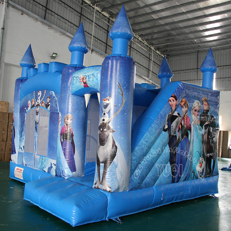 YQ48 Frozen Inflatable bouncer slide combo for kids