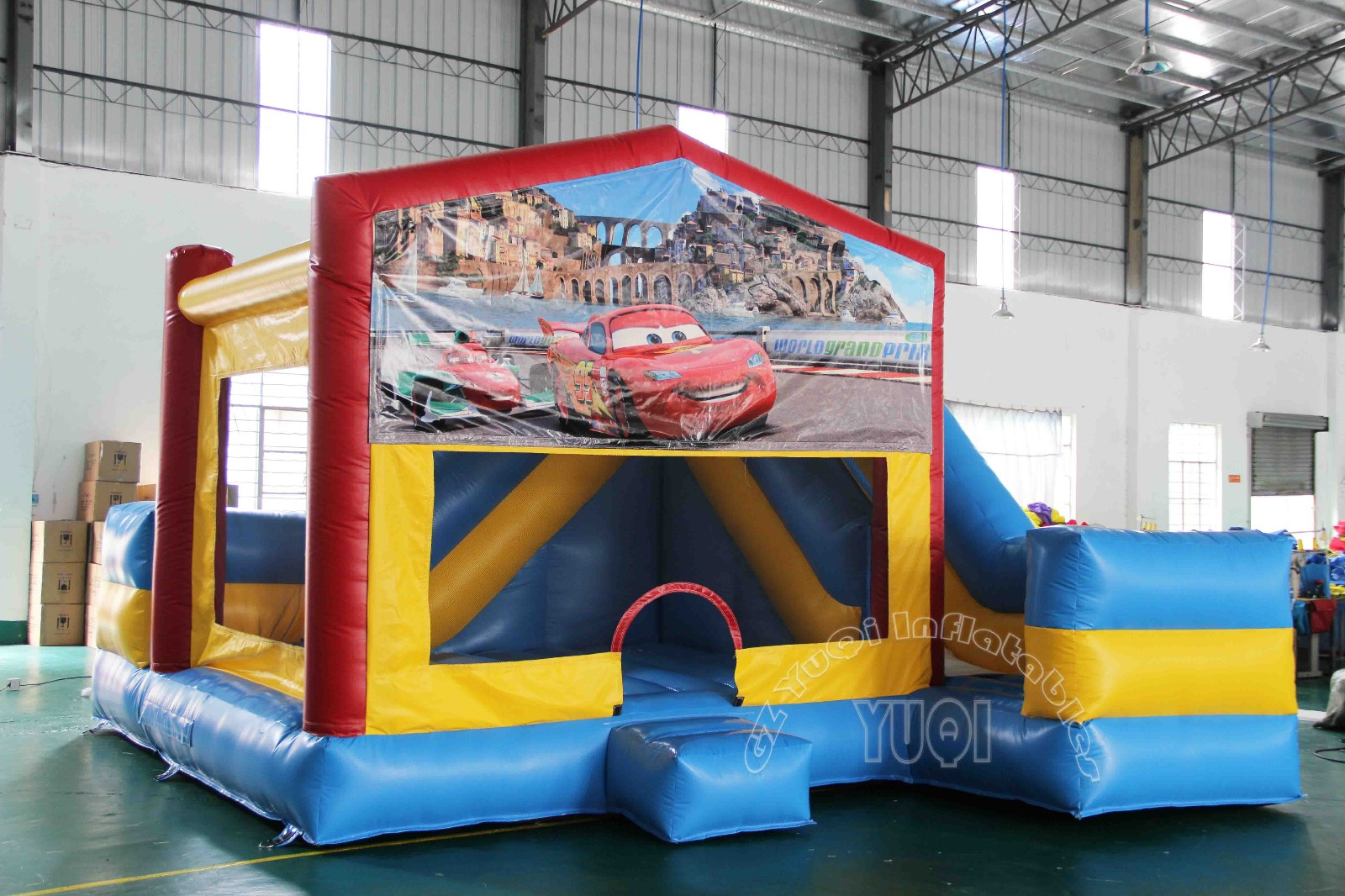 YUQI-Best Inflatable Bounce House Waterslide Combo For Sale For Kids
