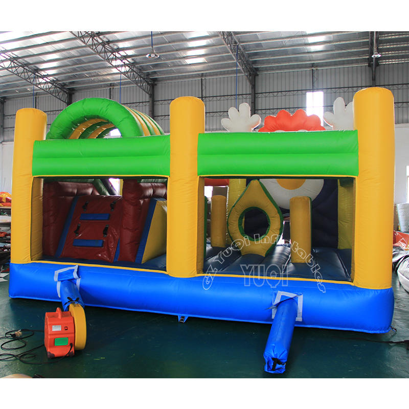 YQ37 Happy Clown Inflatable bouncer slide combo for kids