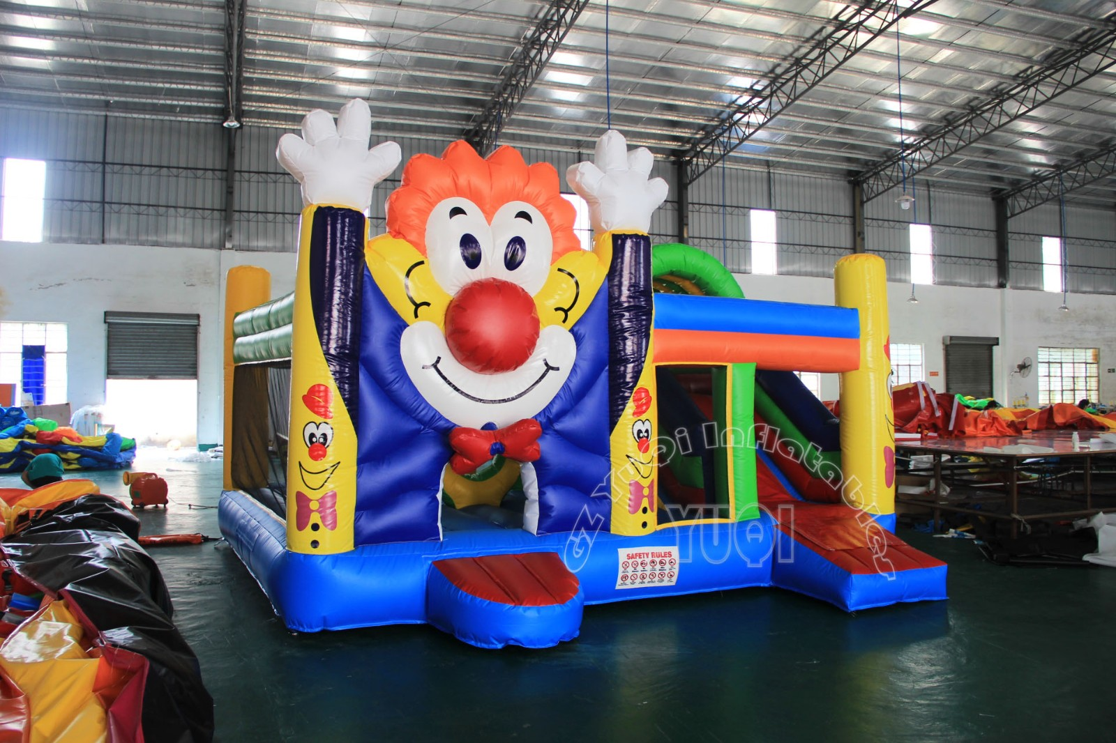 YUQI-High-quality Yq37 Happy Clown Inflatable Bounce House Slide Combo