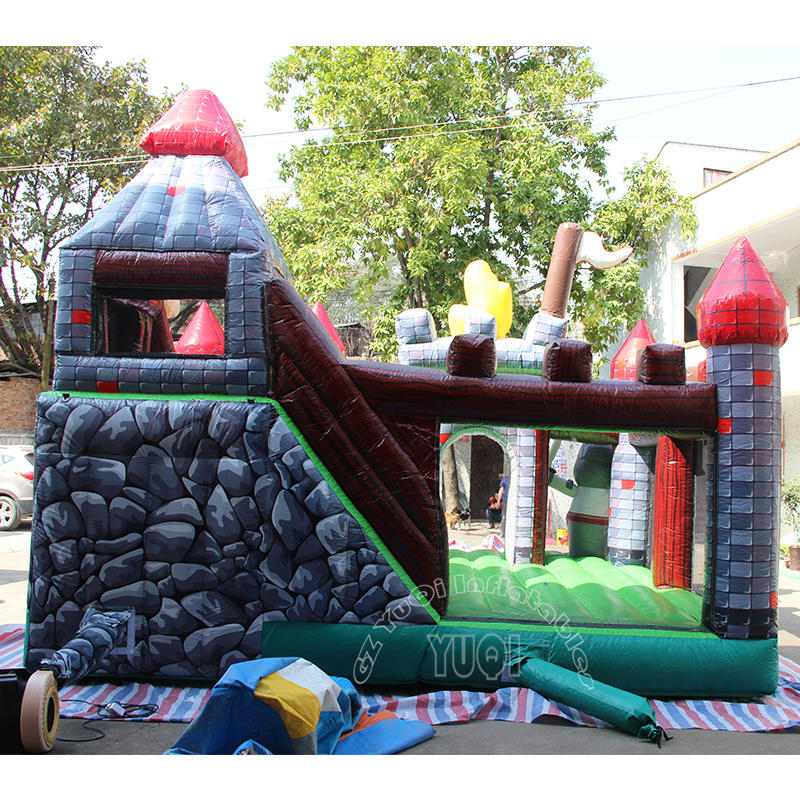 YQ38 Soldier cartoon Inflatable bouncer slide combo for kids