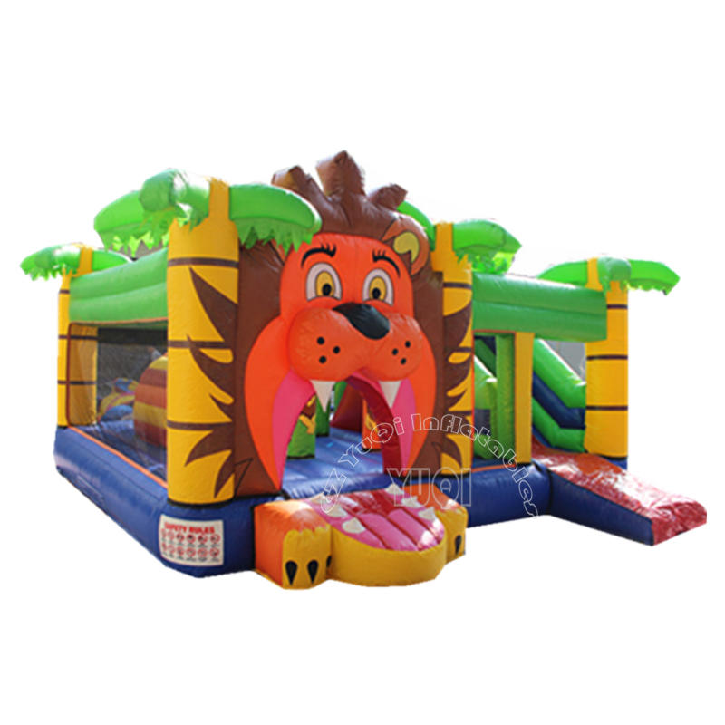 YQ39 Lovely Tiger cartoon Inflatable bouncer slide for kids