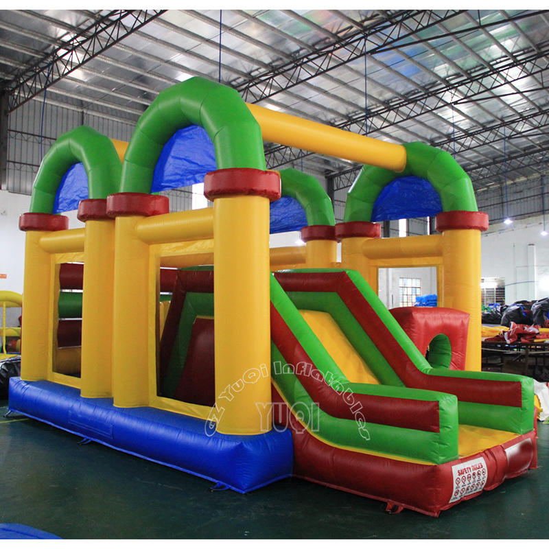 YQ34 Inflatable Double Tunnel Slide Combo inflatable bouncer slide for kids