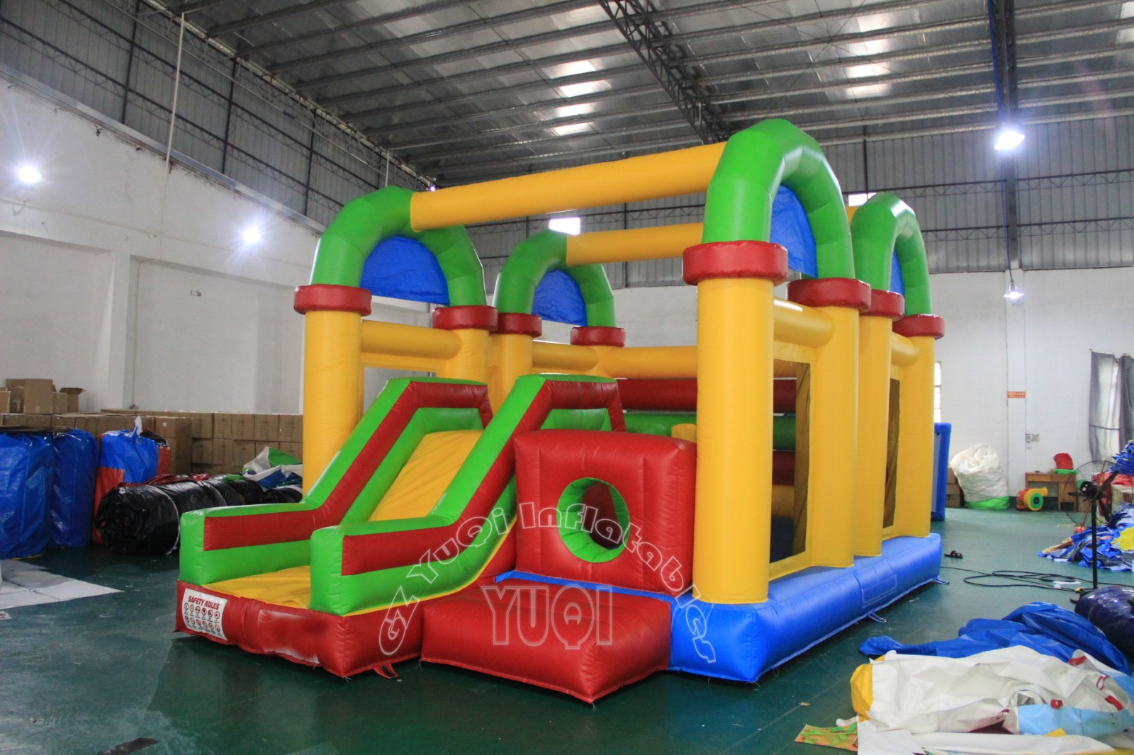 YUQI-High-quality Buy Bounce House Double Tunnel Slide Combo