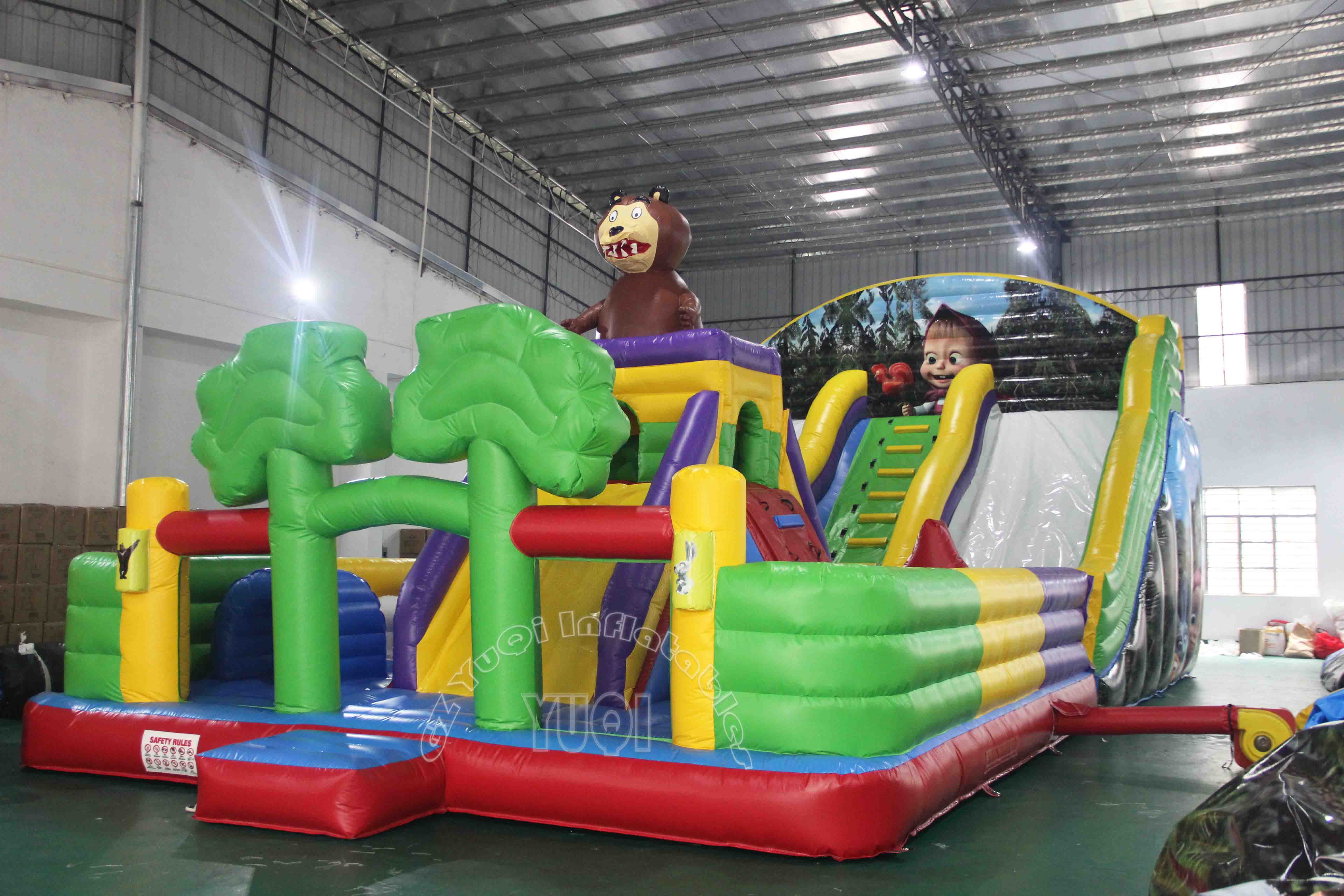 YUQI-Yq60 Giant Inflatable Play Park Outdoor Playground Amusement Park