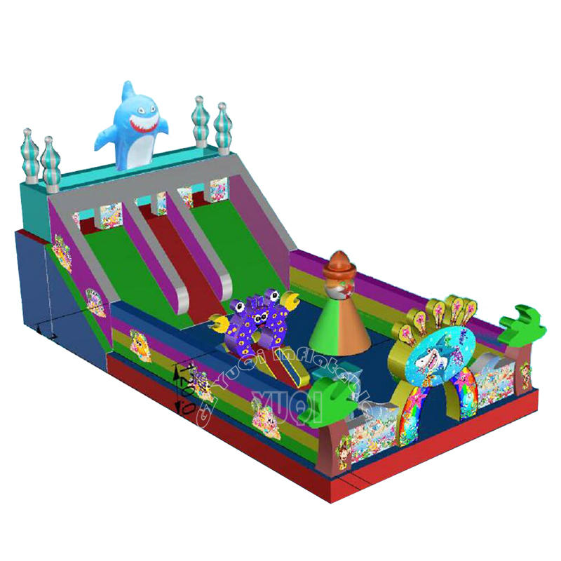 YQ3 PVC Material High Quality Giant Shark Inflatable Playground Amusement Park
