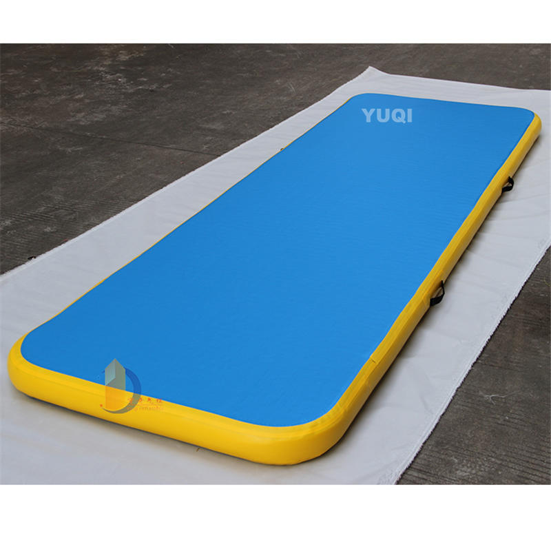 YQ74 Customized logo inflatable air tumble track for gym inflatable air track for sale
