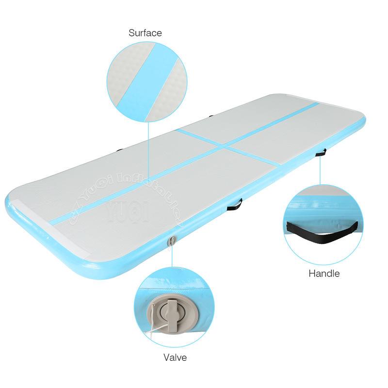 YQ76 3m 4m 5m 6m 7m 8m 10m 20m cheap Airtrack factory mat air track floor tumbling mat inflatable air track