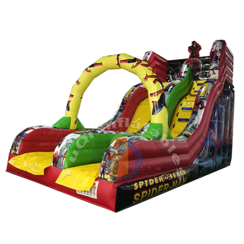 YQ28 Spider-man inflatable slide for kids outdoor playground