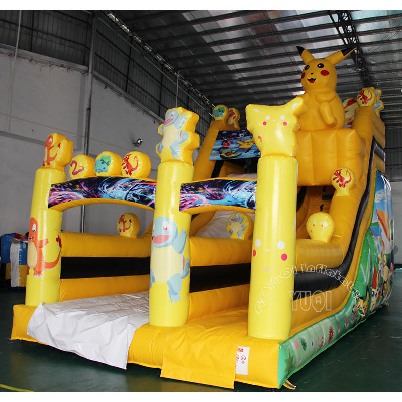 YQ20 Best Qaulity Inflatable Slide Pikachu Children Slide
