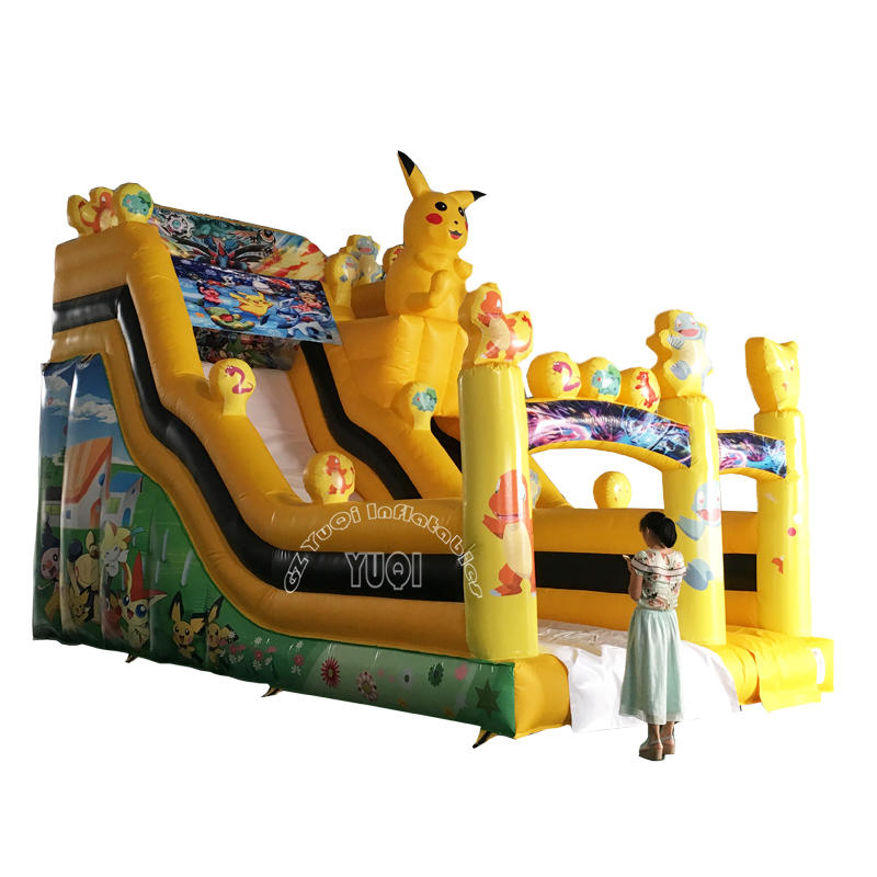 YQ20 Best Qaulity Inflatable Slide Pikachu Children Slide