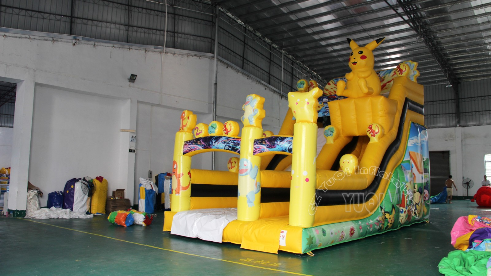 YUQI-Yq20 Best Qaulity Inflatable Pool Slide Pikachu Children Slide Play