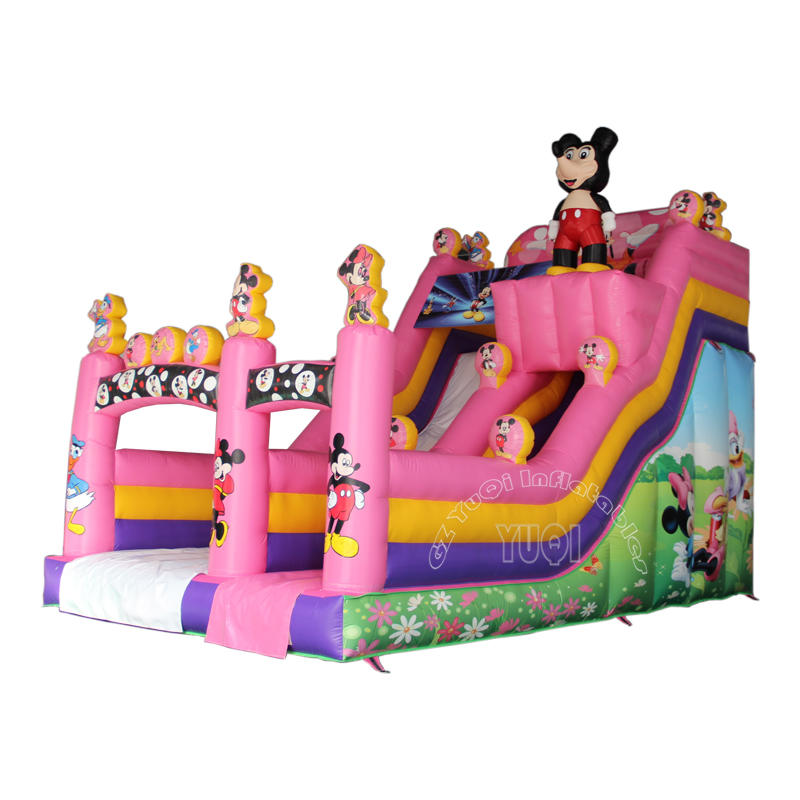 YQ23 Hot sale mickeyy mouse inflatable slide giant slides for children playground