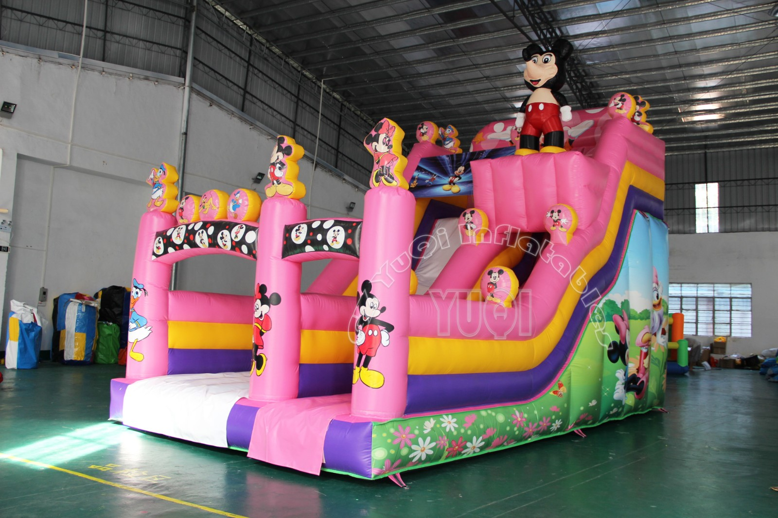 YUQI-Yq23 Hot Sale Mickeyy Mouse Giant Inflatable Water Slide