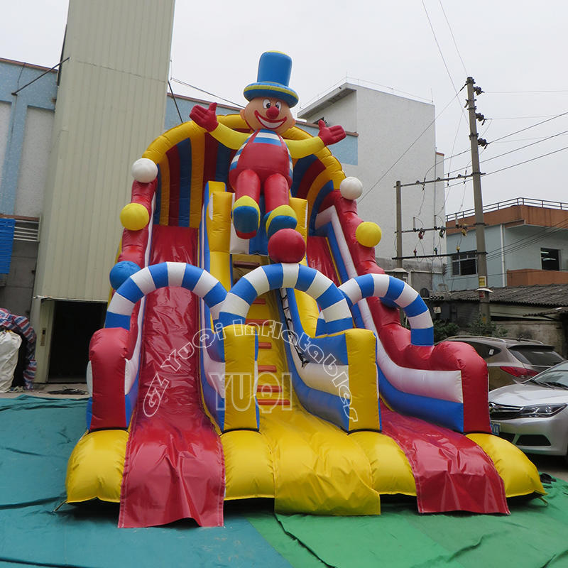 YQ31 Happy Clown Inflatable Slide for kids and adults