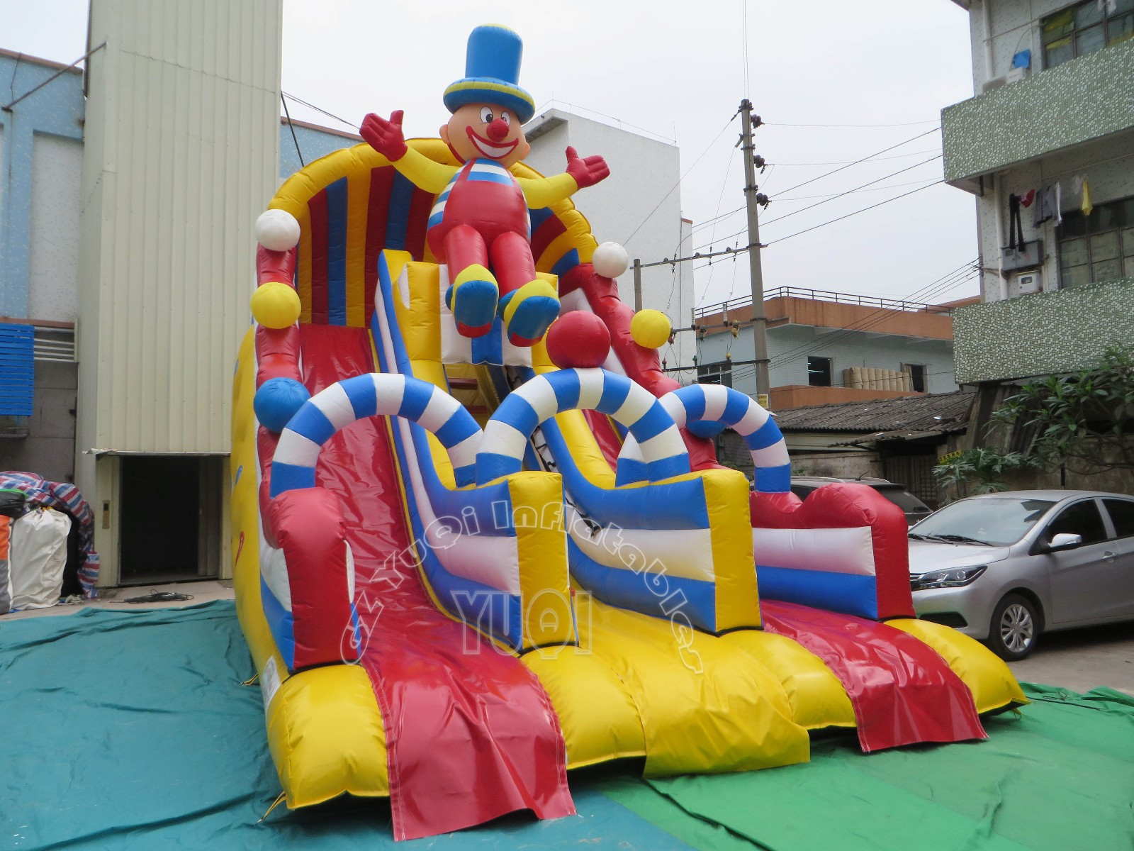 YUQI-Best Yq31 Happy Clown Inflatable Slip And Slide For Kids And Adults