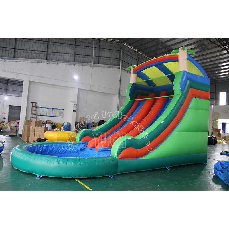 YQ32 Summer outdoor playground Inflatable Slide with pool