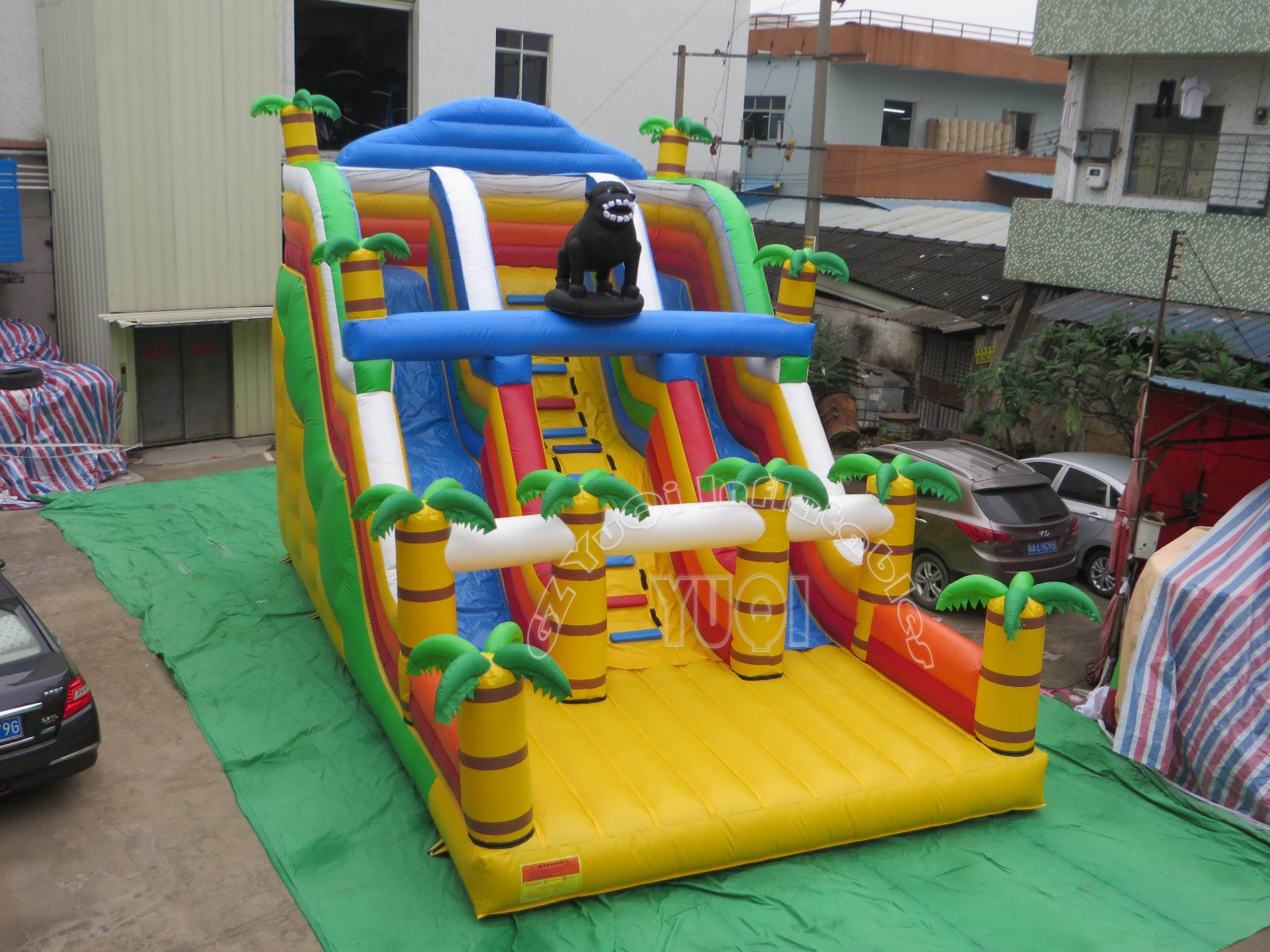 YUQI-Yq322 Inflatable Forest Cartoon Theme Inflatable Water Slide