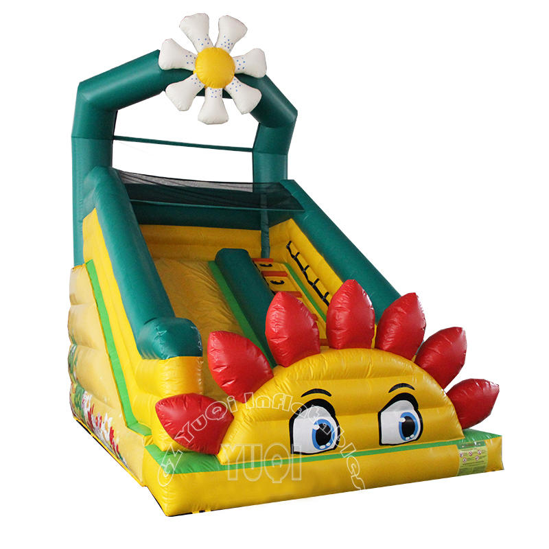 YQ325 Sun flower  Inflatable Slides For Kids Made In China