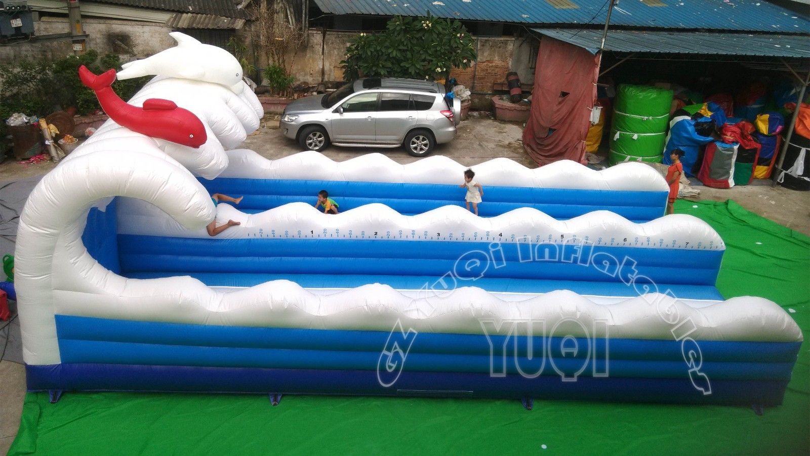 YUQI-Yq674 Interesting Double Line Bungee Inflatable Sport