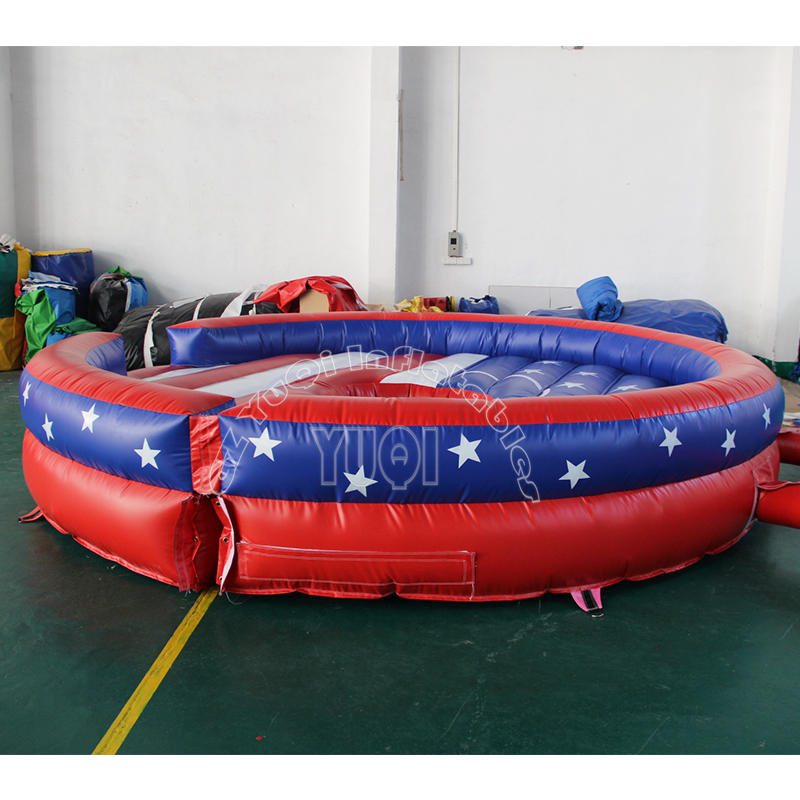YQ677 Hot sale mechanical bull riding with inflatable bed, Rodeo Bull