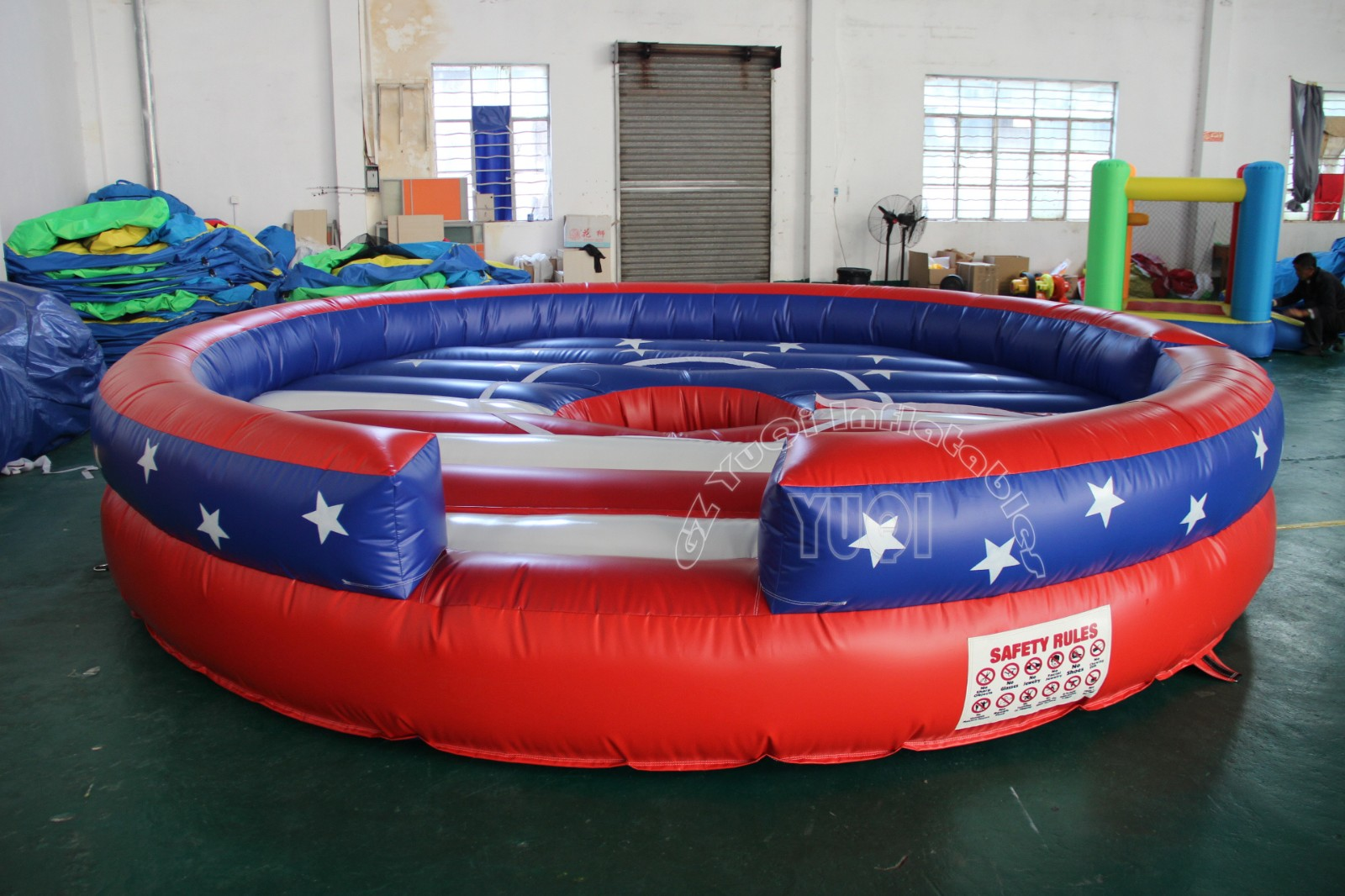 YUQI-Best Yq677 Hot Sale Mechanical Bull Riding With Inflatable Game