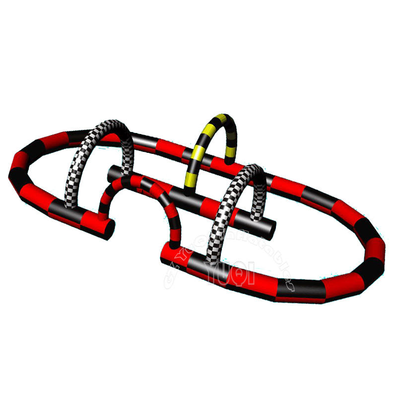 YQ682 Sport go cart inflatable race track for sale