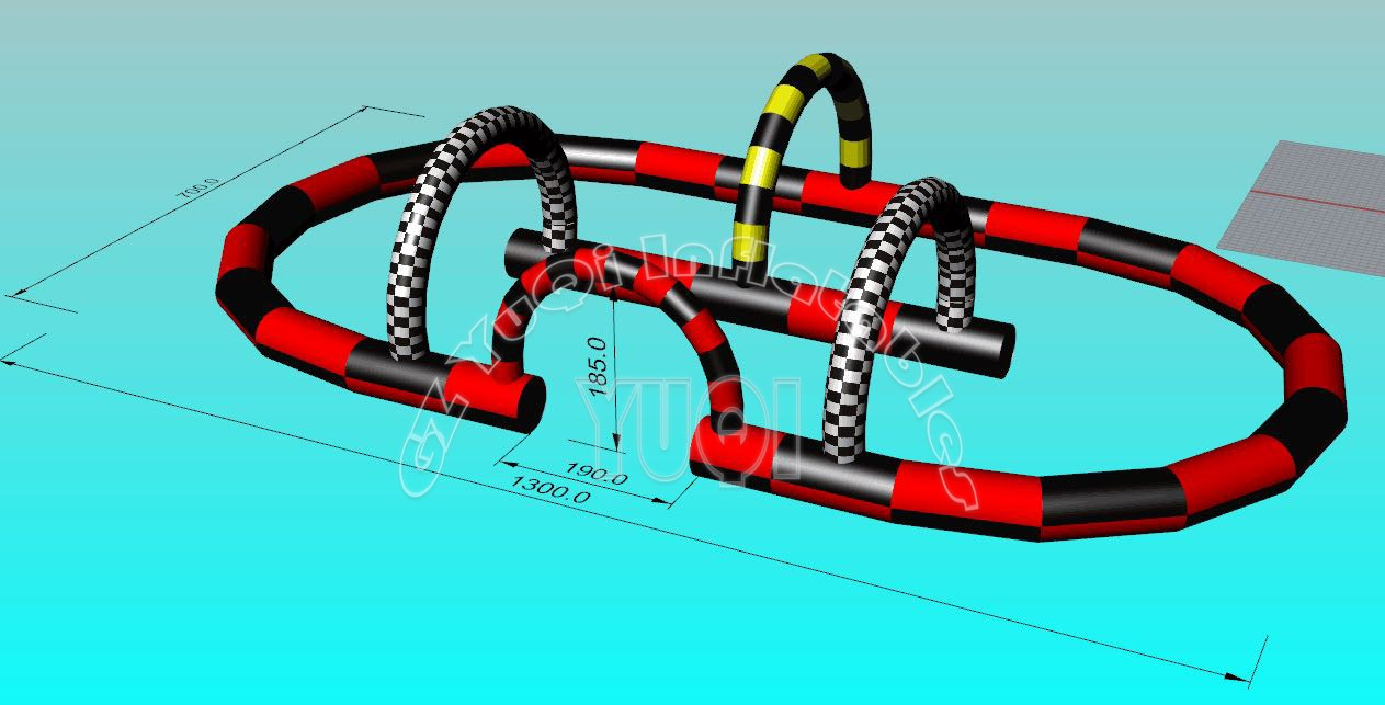 YUQI-Manufacturer Of Yq682 Sport Go Cart Inflatable Game Race Track